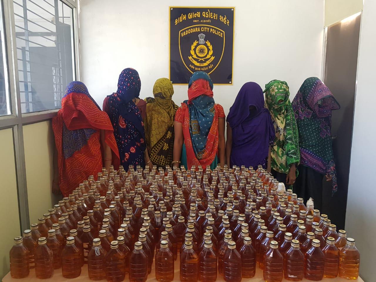 Vadodara police catches 7 women for bootlegging liquor in a